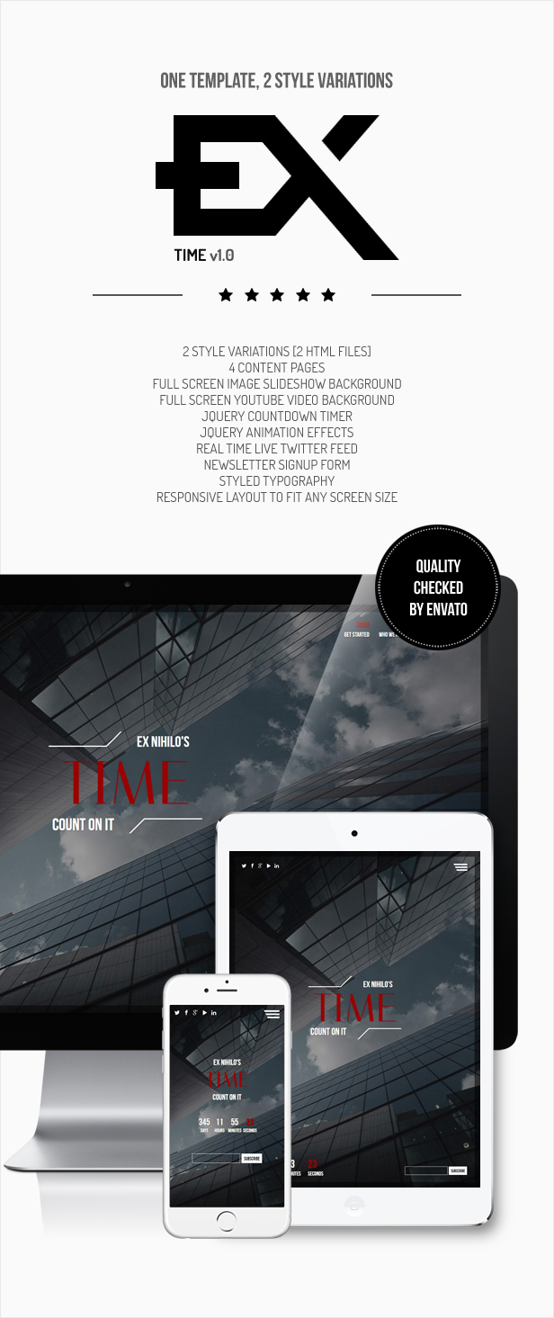 Time || Responsive Coming Soon Page by ex-nihilo | ThemeForest