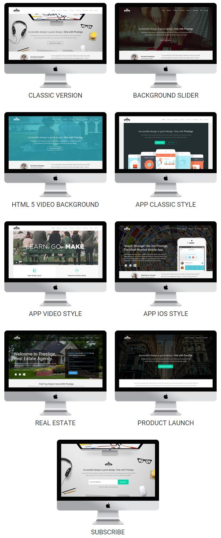 Prestige - Multi Purpose WordPress Landing Pages - 2