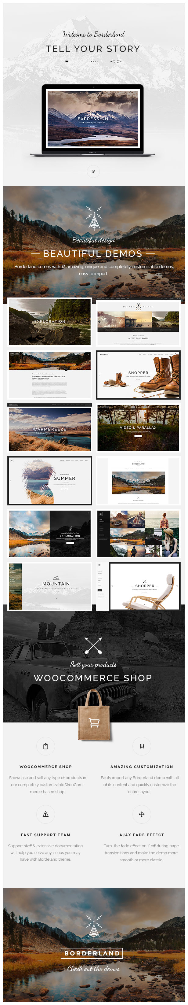 Borderland - Multipurpose Vintage Theme - 1