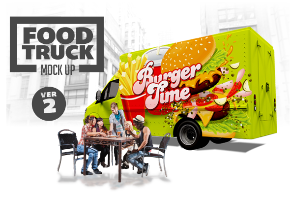 Design Cloud: Food Truck Mock Up Volume 2