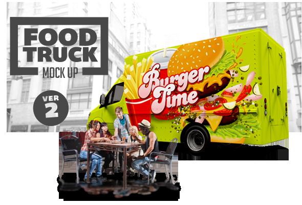 Design Cloud: Food Truck Mock Up Volume 2
