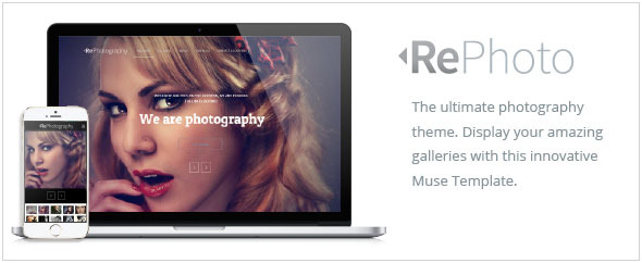 RePhoto - Photography Responsive Muse Template