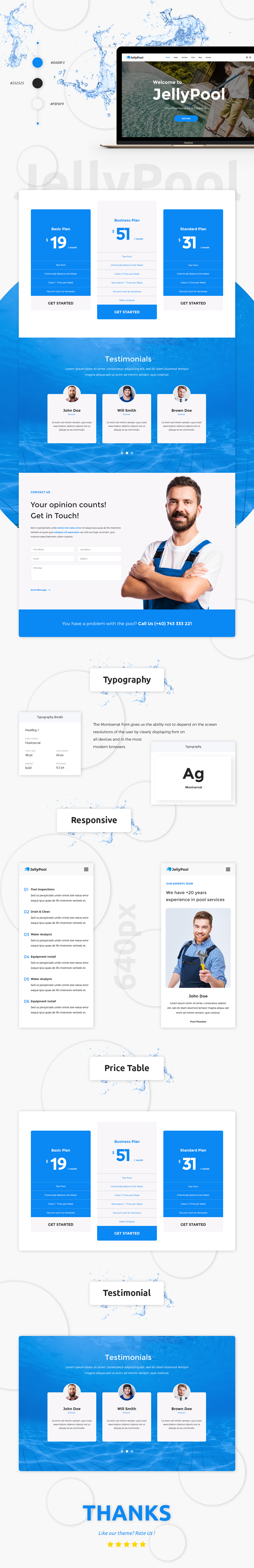 JellyPool - Pool Maintenance & Cleaning WordPress Theme - 2