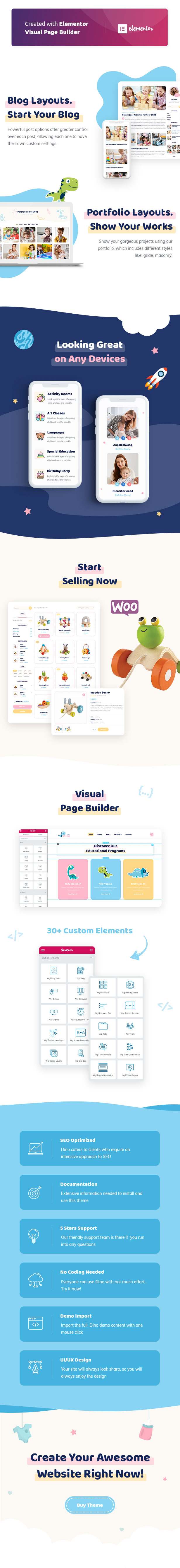 Littledino - Modern Kids WordPress Theme - 2