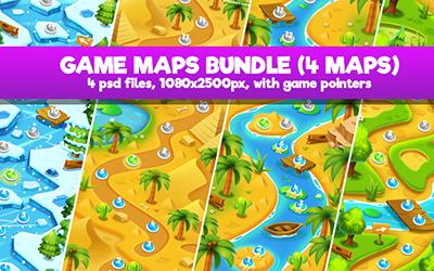 Island Palm Seamless Game Map - 1