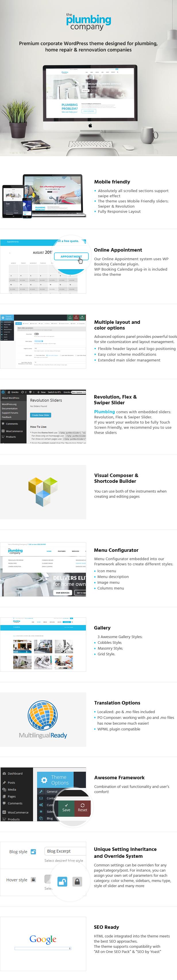 Plumbing - Repair, Building & Construction Wordpress Theme - 3