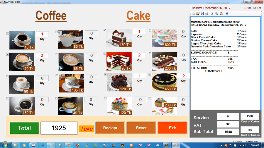 Coffee Shop Billing System | Easy Invoice With Full Source Code