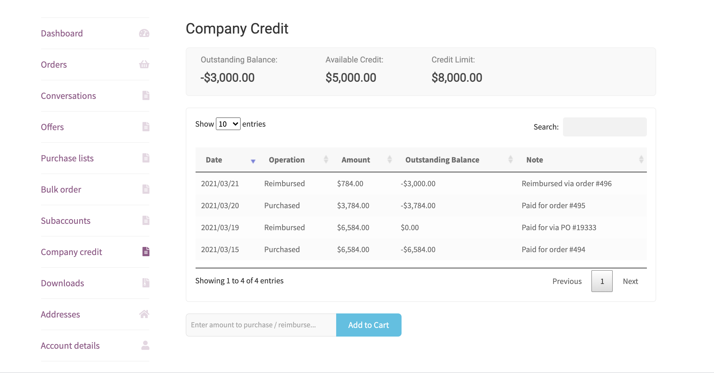 B2BKing Company Credit - WooCommerce Line of Credit System (Add-on) - 4