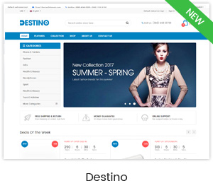 Destino - Premium Responsive Magento Theme with Mobile-Specific Layouts - 4