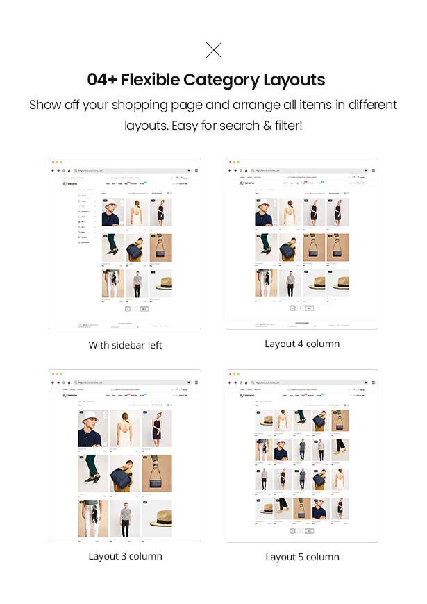 04 category layouts Venoma Fashion WooCommerce WordPress Theme