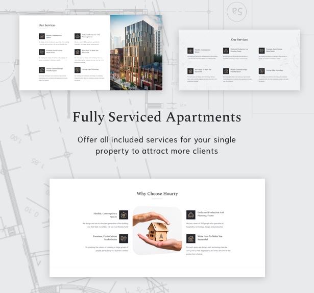 Hourty - Single Property WordPress Theme