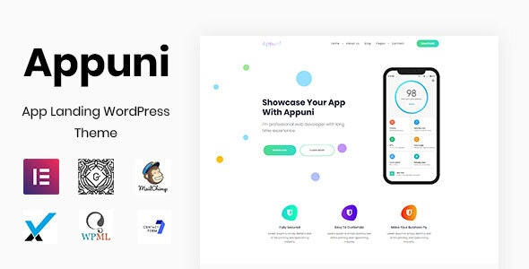 Appuni - App Landing WordPress Theme - Software Technology