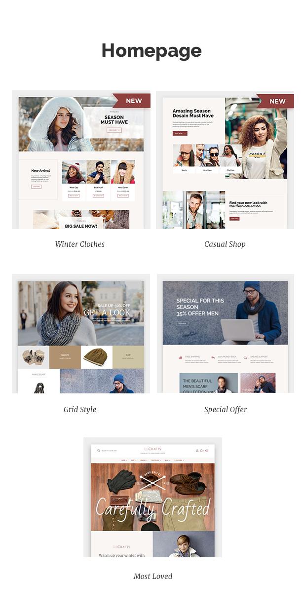 LeCrafts - WooCommerce Marketplace Themes - 2
