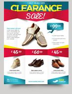 clearance sale product promotion flyer