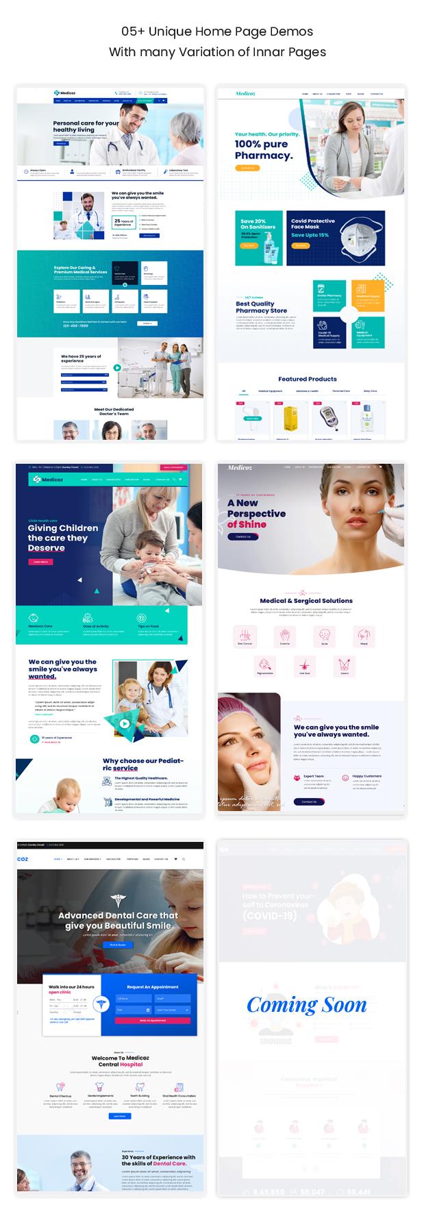 Medicoz - Clinic & Pharmacy WordPress Theme - 9