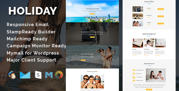 Ray - Multipurpose Responsive Email Template With Stamp Ready Builder Access - 3
