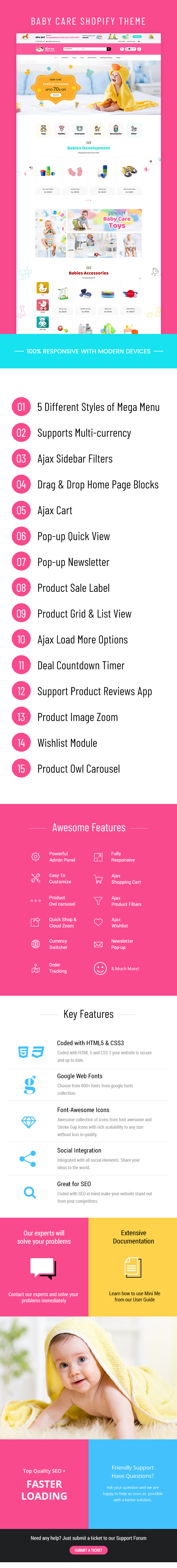 Mini Me - Baby Care Products Sectioned Shopify Theme - 1