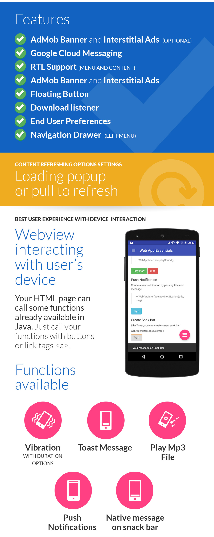 Android Web App + Push Web Panel - 2