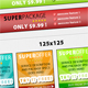 Glossy web 2.0 RSS button pack - 6