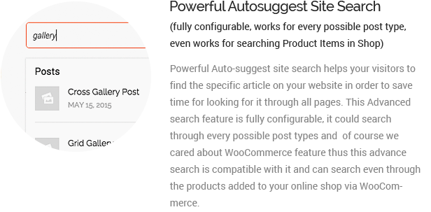 powerful autosuggest site search