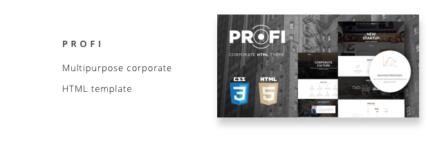 Profi - Multipurpose Corporate HTML Template - Business Corporate