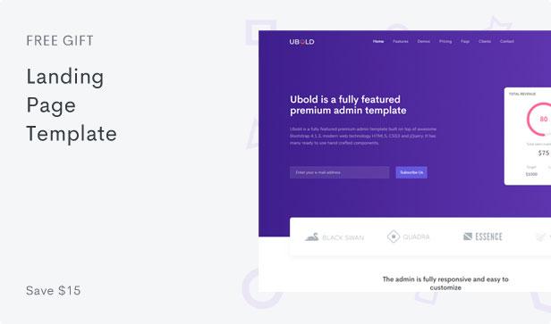 Ubold Admin - Bootstrap 4 Admin Dashboard Template - 7