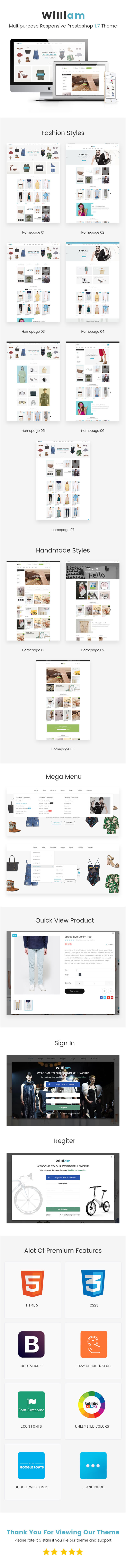 William - Responsive eCommerce Prestashop 1.7 Template - 2