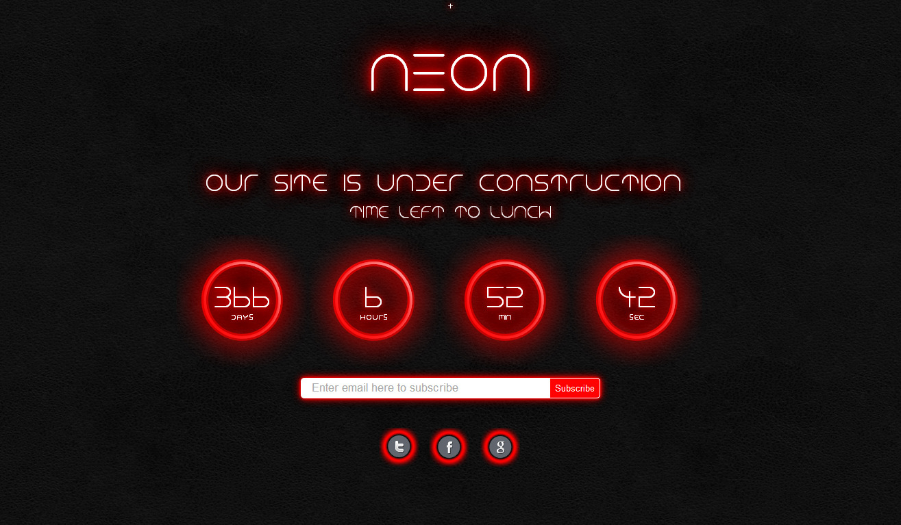 Neon - Responsive Under Construction Page - 3