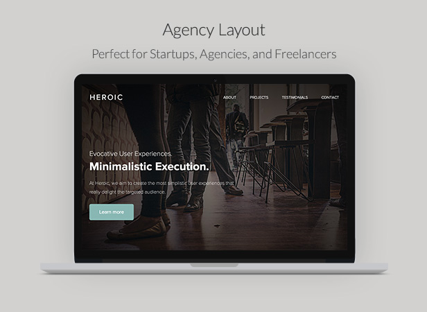 Heroic - Creative + Modern One Page HTML Template - 8