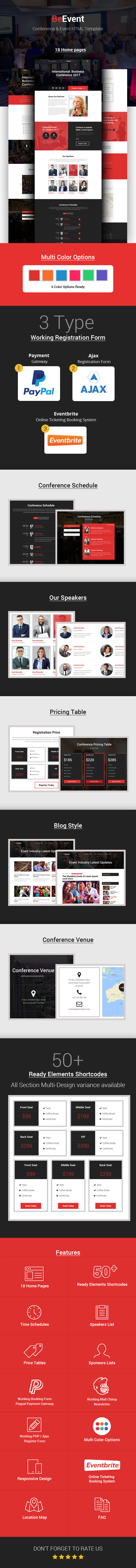 BeEvent - Conference & Event HTML Template by webmasterdriver ...