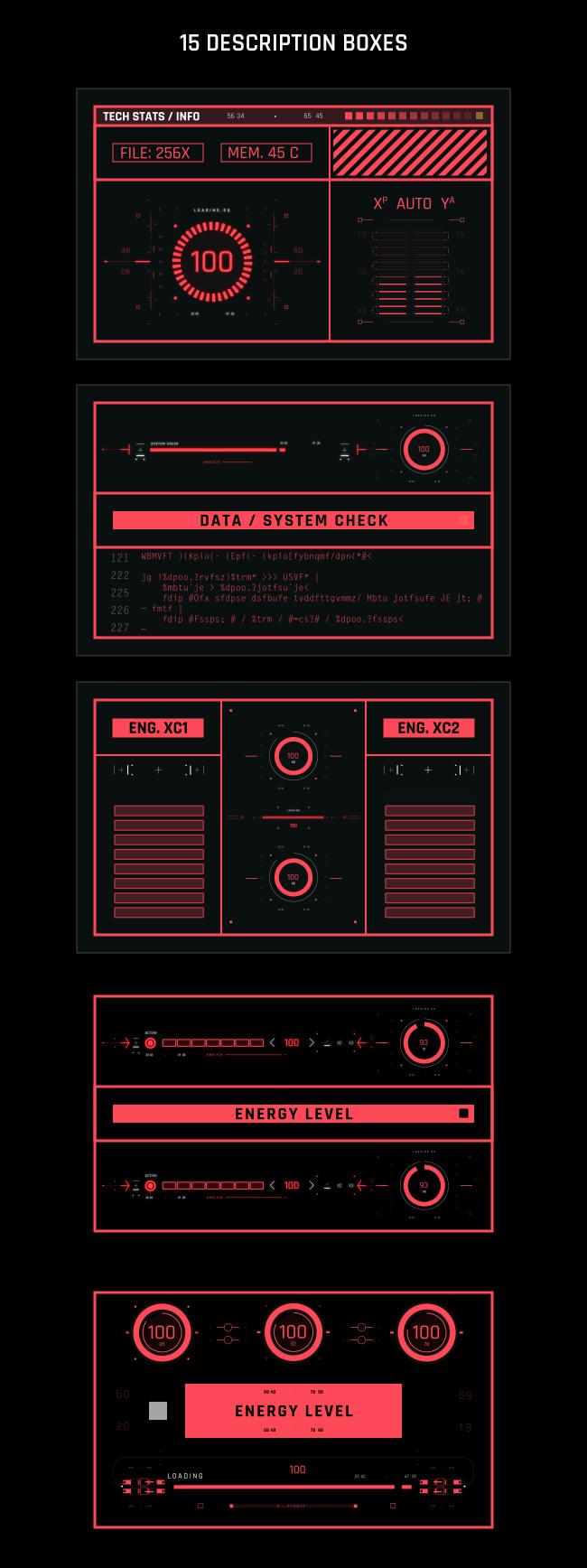 AE脚本-500个HUD高科技赛博朋克UI科幻界面元素动画预设包 Cyberpunk HUD UI 500+ 已修复中文版AE表达式报错插图34