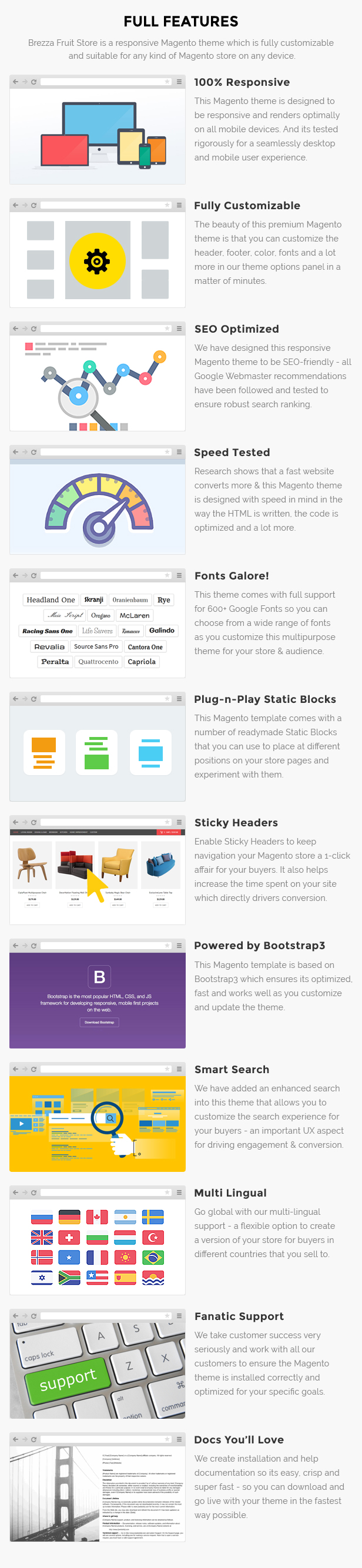 Fruits store Magento template