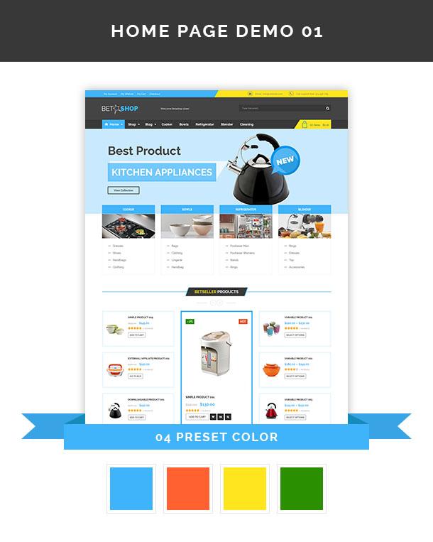 Vina BetaShop - Kitchen Appliances VirtueMart Template - 6