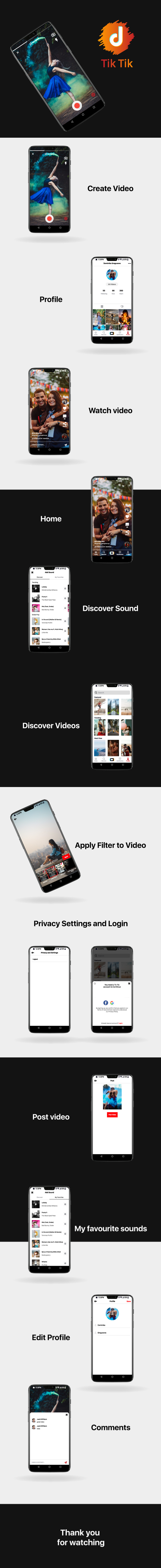 TicTic -  Android media app for creating and sharing short videos - 5