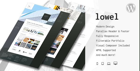 Lowel - Responsive Modern WordPress Theme