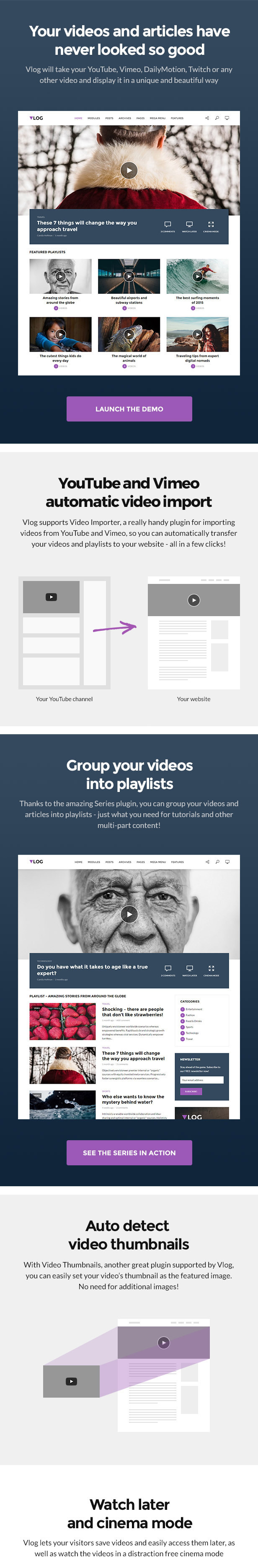 Vlog - Video Blog / Magazine WordPress Theme