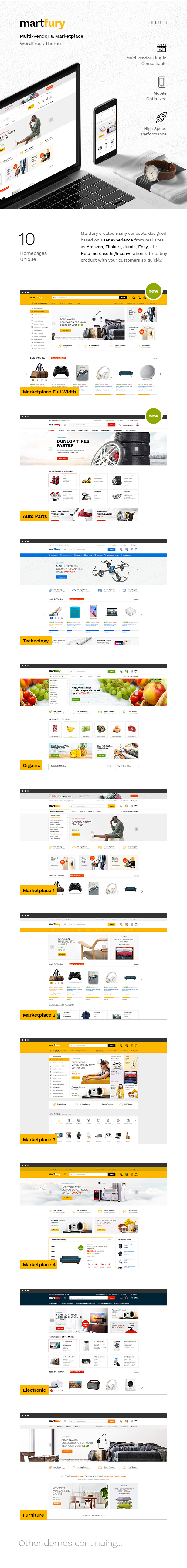 Martfury - WooCommerce Marketplace WordPress Theme - 15