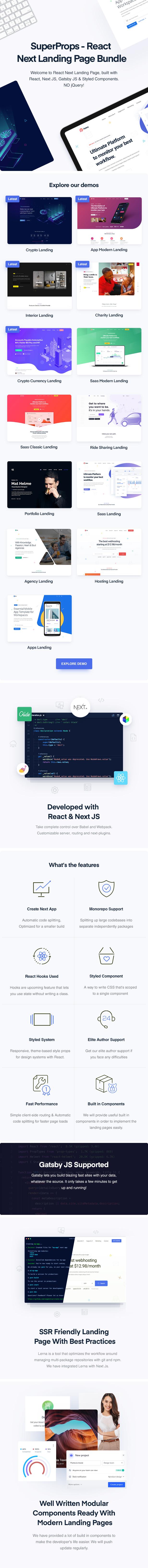 SuperProps - React Next Landing Page Templates - 1
