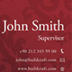 Leather Style Business Card - 5