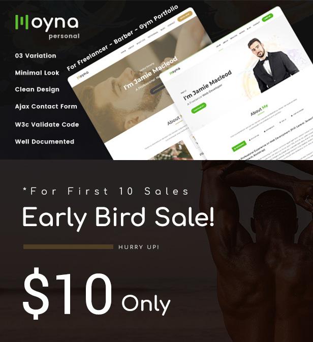 Moyna HTML Template Offer