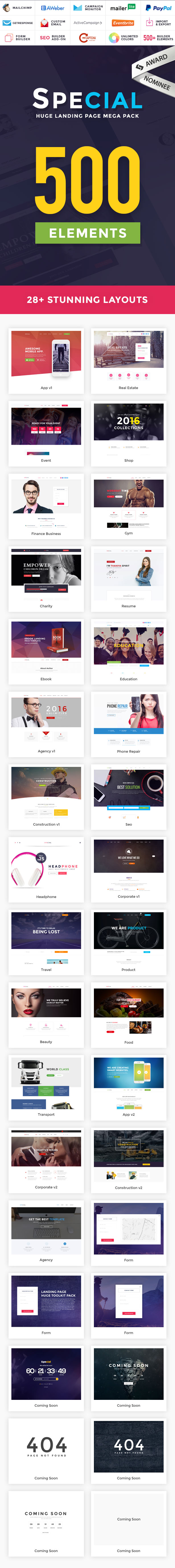 Special - Landing Page HTML Pack - 1