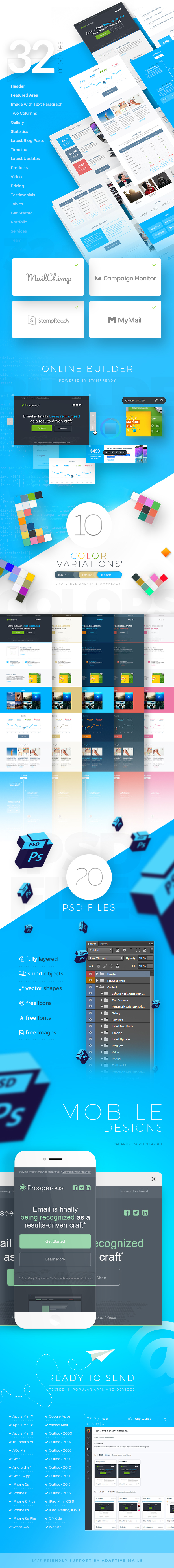 Prosperous - 10 StampReady Responsive Multipurpose Email Templates - 2