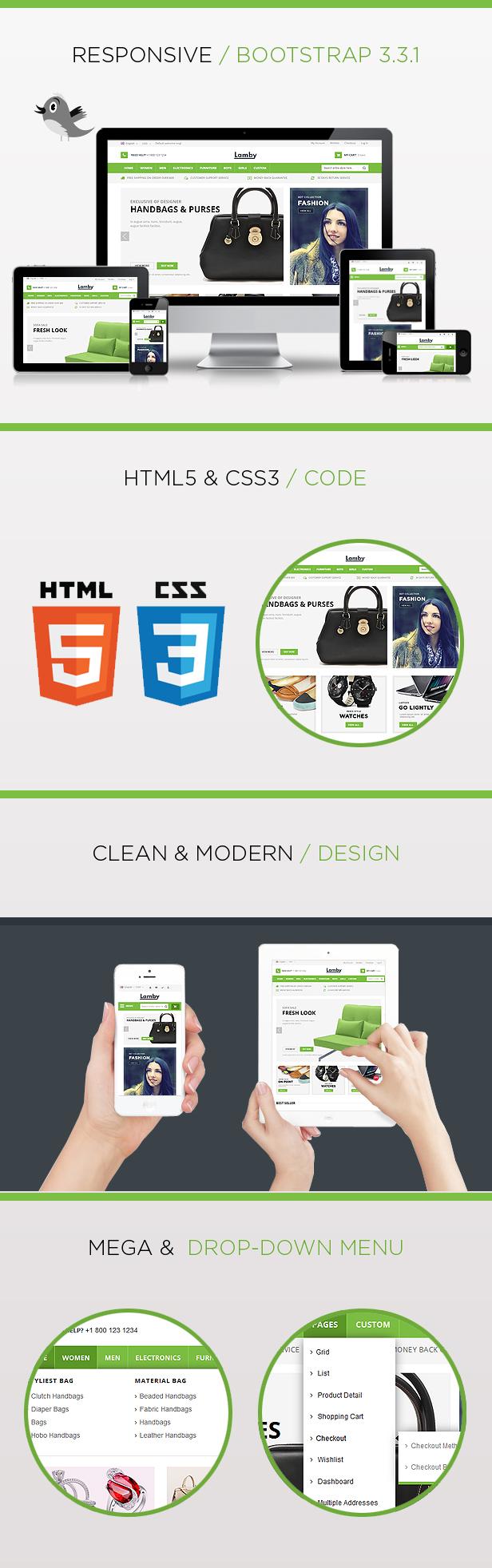 lamby responsive html template