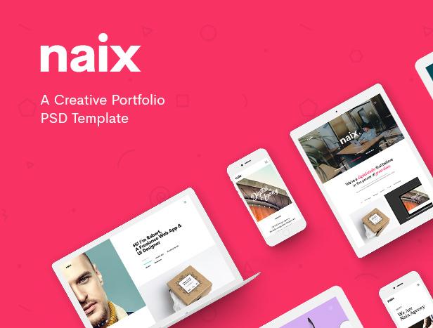 Naix - Creative Portfolio PSD Template - 6