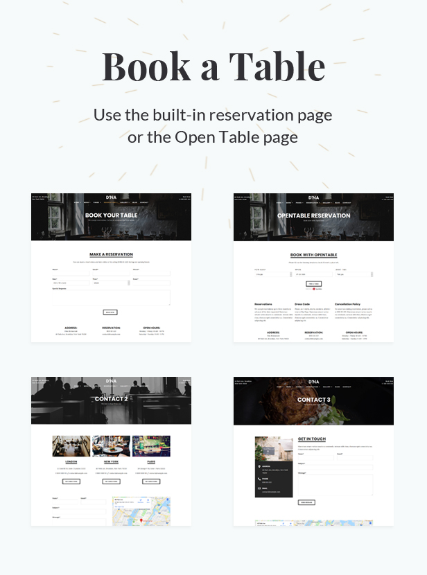 Dina - Restaurant, Bar, Cafe, Food WordPress Theme - 4