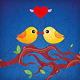 cartoon birds characters love kiss