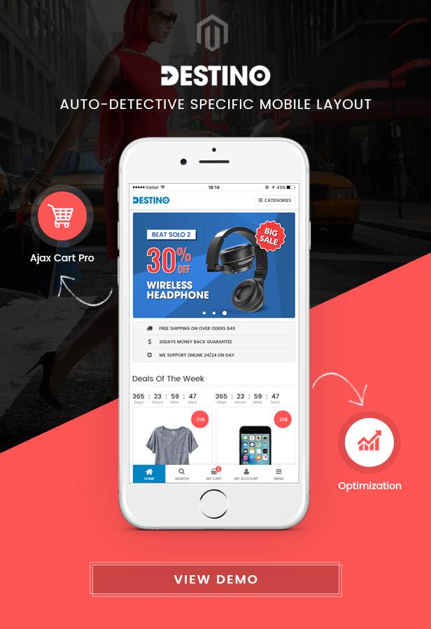 Destino - Mobile Layout