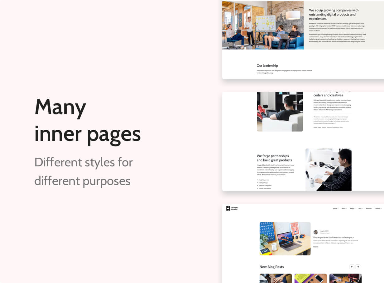 Dedafo - Corporate, Creative Agency, Studio, SaaS, Minimal Html Template - 3