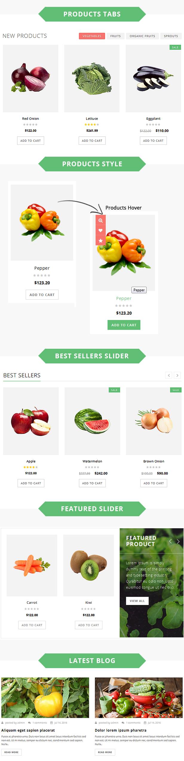 Brezza - Fruit Store Responsive OpenCart Theme