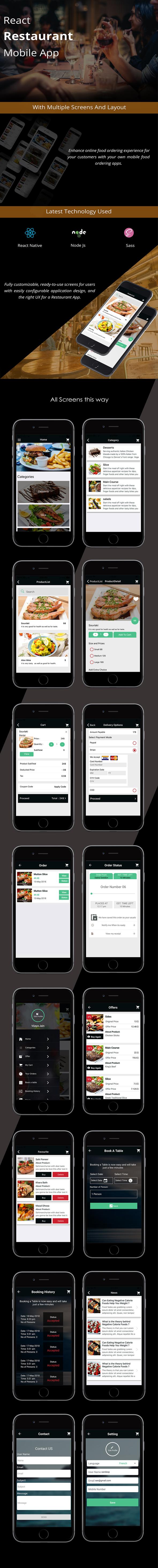 React Native Restaurant Mobile App - 4